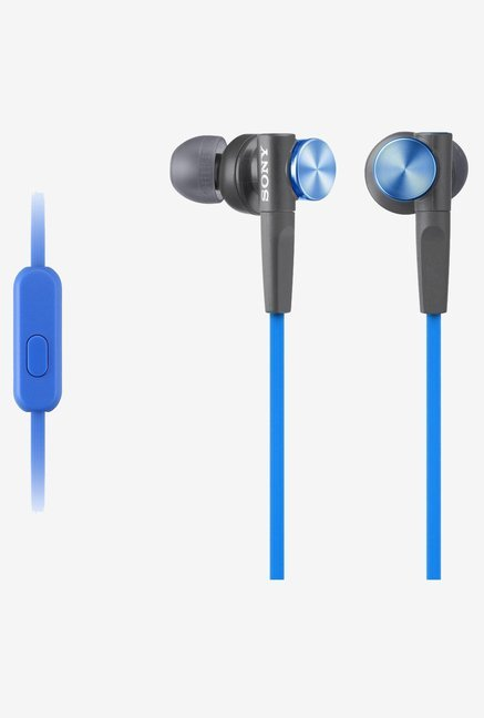 Sony MDR-XB50AP In the Ear (XB) Headphones with Mic (Blue)