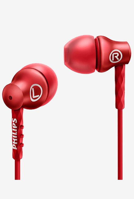 Philips SHE8100RD/27 In the Ear Headphones (Red)