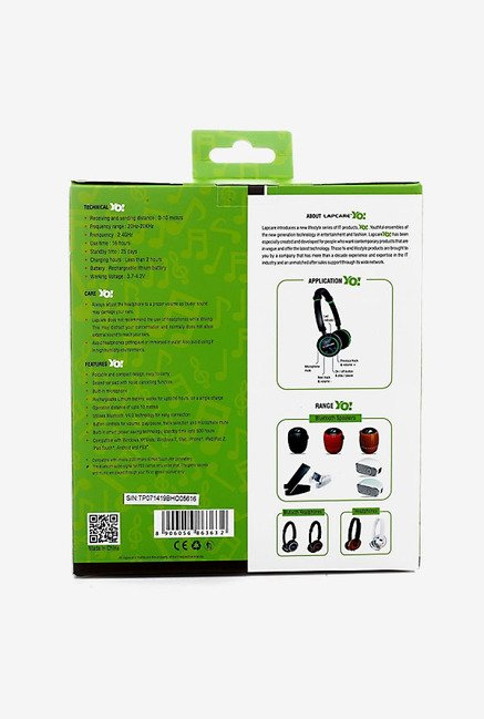 Lapcare LBH 208 Bluetooth Headset (Green)