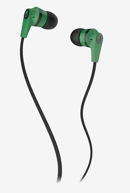 Skullcandy S2IKDZ-102 In the Ear Headphone (Green /Black)