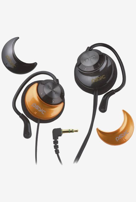 Sony MDRQ23LPPSBLK  Headphones In the Ear (Black & Orange)