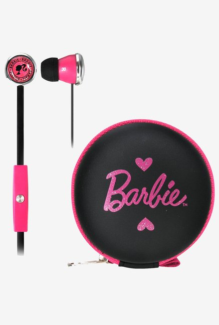 Barbie Earphones with Mic & Case (Black)
