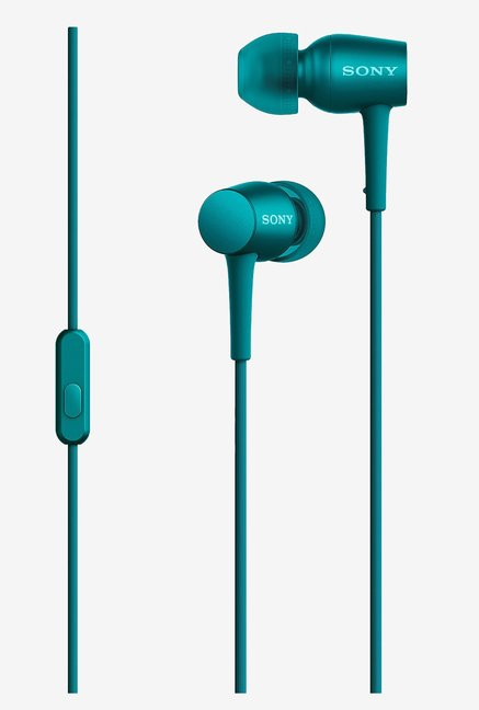 Sony MDR-EX750AP Headphones With Mic (Viridian Blue)