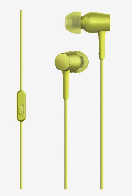Sony MDR-EX750AP Headphones with Mic (Lime Yellow)