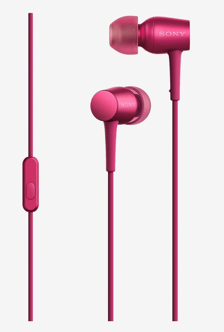 Sony MDR-EX750AP  Headphones with Mic (Bordeaux Pink)