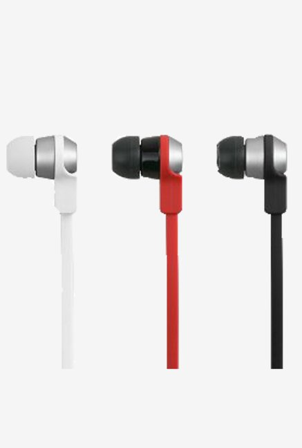 Cowon EM1 In the Ear Headphone with Mic and Remote (Red)
