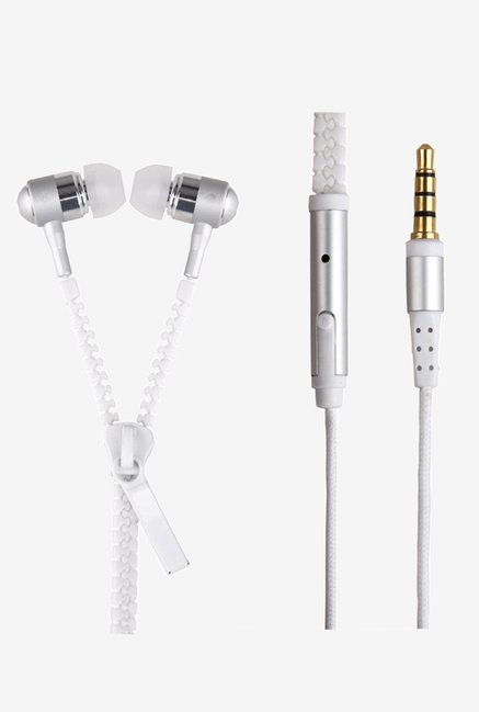 Generic Luminous Zipper Headphone (White)