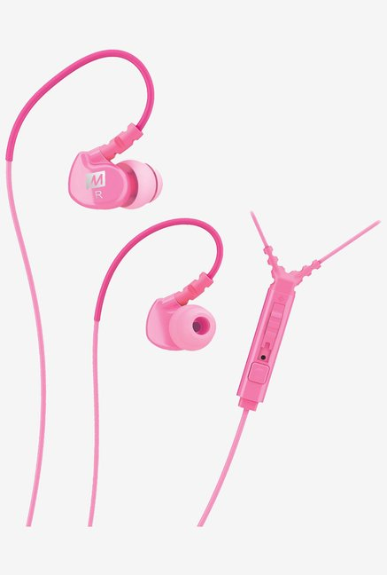 MEE Audio Sport-Fi M6P Memory Wire Headphones(Pink)