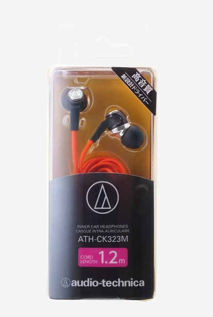 Audio Technica ATH-CK323M In the Ear Headphone (Orange)