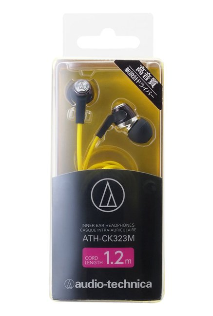 Audio Technica ATH-CK323M In the Ear Headphone (Yellow)