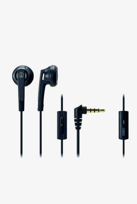 Audio Technica ATH-C505iS BK Headphones (Black)