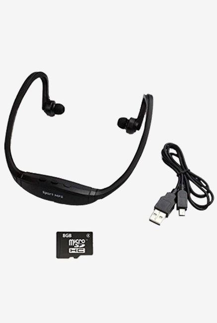 Generic 3 Rechargeable Headset MP3 Music Player (Black)