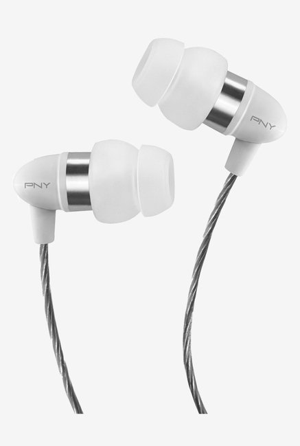 PNY AUD E 202 WH A RB In Ear Earphone (White)