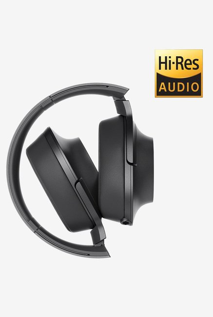 Sony MDR-100AAP On the Ear Headphones (Charcoal Black)