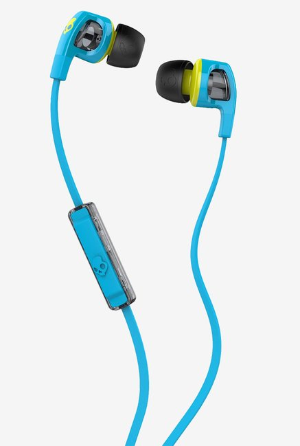 Skullcandy S2PGFY-327 Earphones (Hot Blue/Hot Lime)