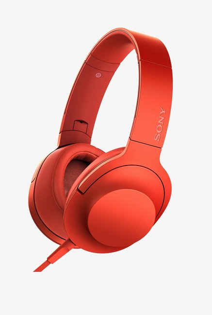Sony MDR-100AAP On-Ear Audio Headphones (Cinnabar Red)