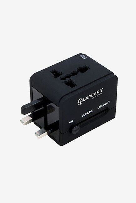 Lapcare NT550 Travel Adapter with USB (Black)