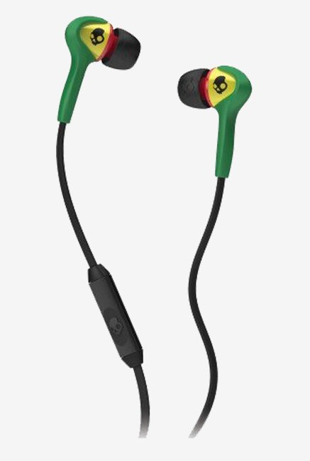Skullcandy S2SBFY-058 Buds In the Ear  with Mic (Rasta)