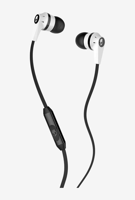 Skullcandy In the Ear Headphone With Mic (White/Black)