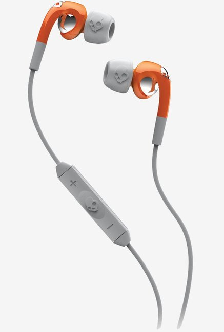 Skullcandy S2FXDM-213 In The Ear Headphone (Orange/Grey)