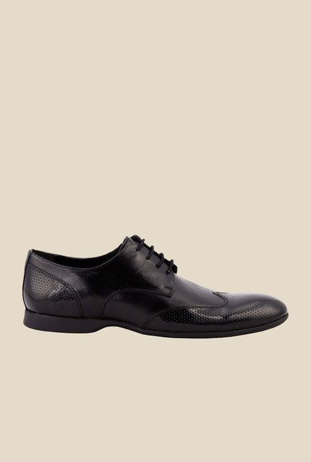 Salt 'n' Pepper Smoke Black Derby Shoes