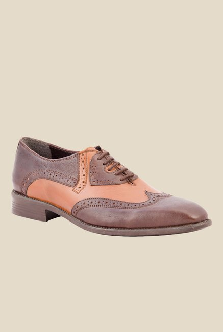 Salt 'n' Pepper Figo Brown & Almond Oxford Shoes