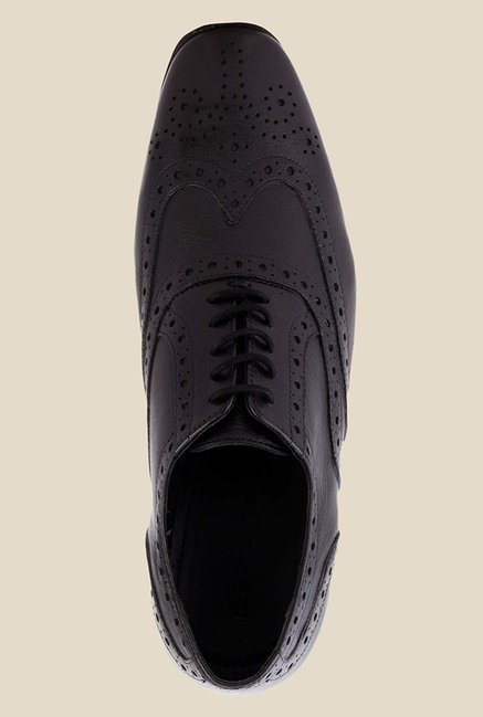 Salt 'n' Pepper Illegal Black Brogue Shoes