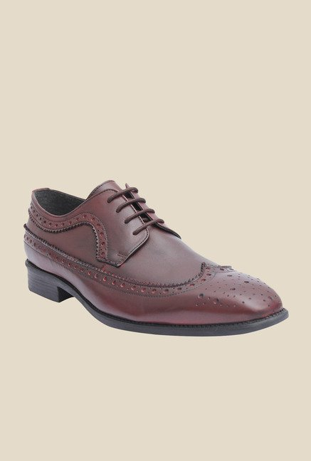 Salt 'n' Pepper Figo Wine Brogue Shoes