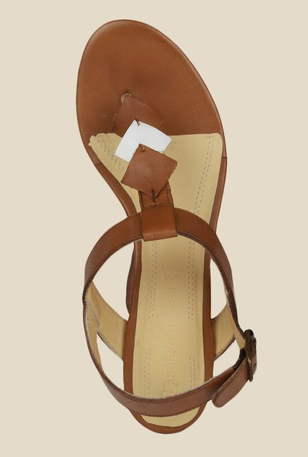 Salt 'n' Pepper Dolly Almond Back Strap Sandals