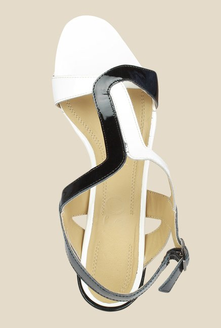 Salt 'n' Pepper Wendy Black & White Back Strap Sandals