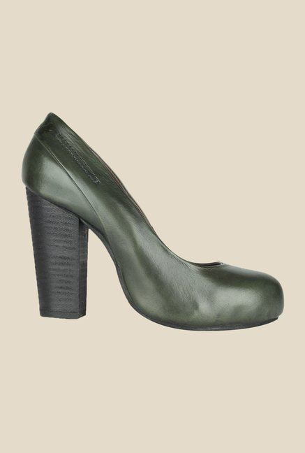 Salt 'n' Pepper Rebbaca Green Pumps