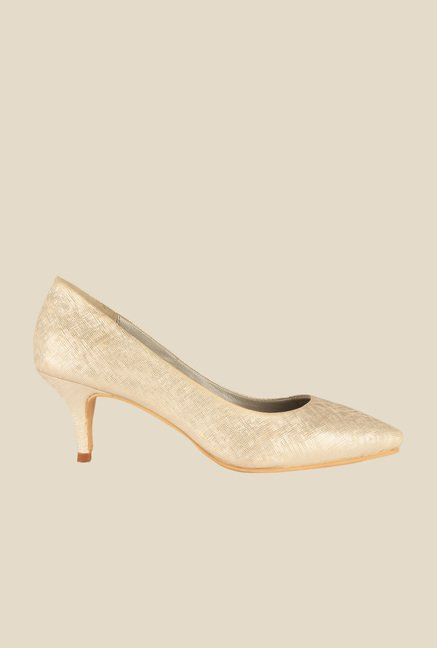 Salt 'n' Pepper Jessica Golden Pumps