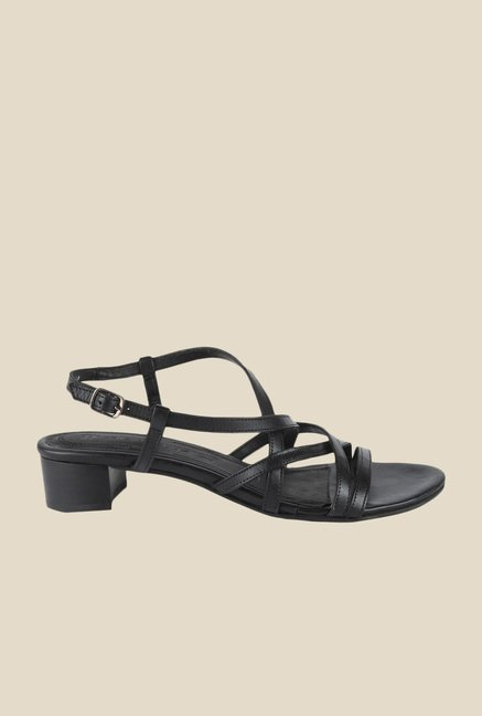 Salt 'n' Pepper Dolly Black Back Strap Sandals