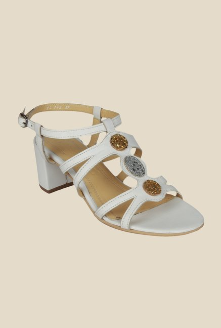 Salt 'n' Pepper Wendy white Ankle Strap Sandals