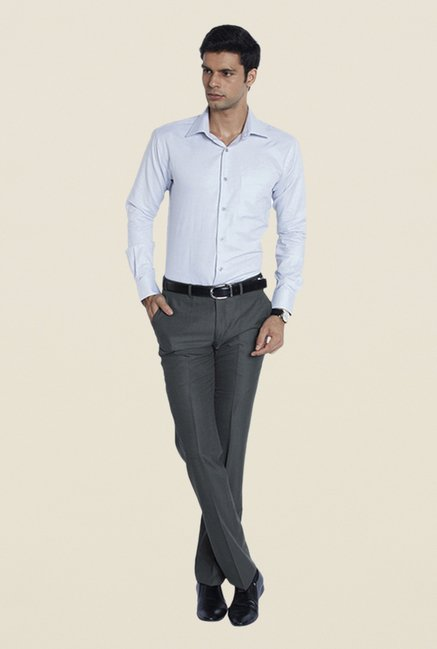 Raymond Grey Flat Front Trouser