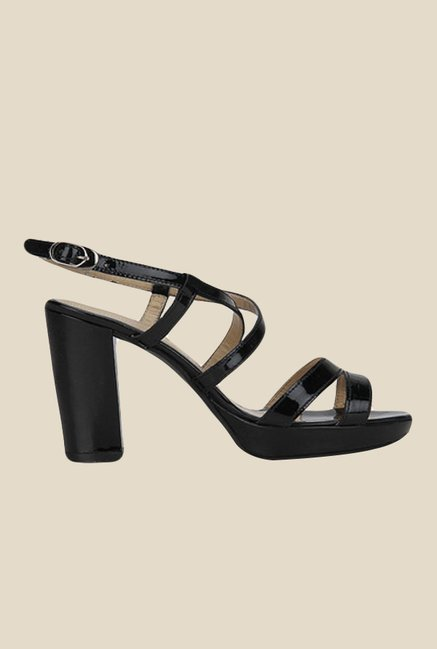 Salt 'n' Pepper Megan Black Back Strap Sandals