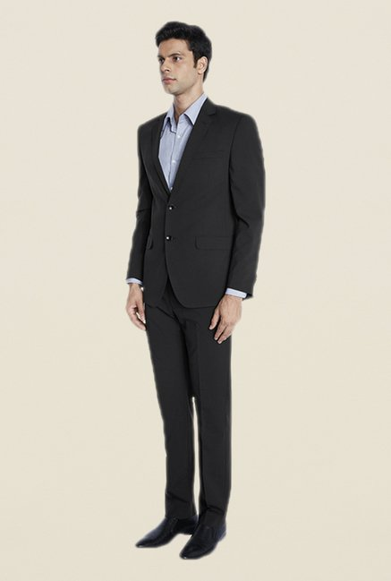 Park Avenue Navy Solid Suit Set