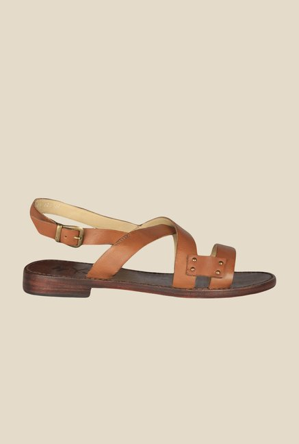 Salt 'n' Pepper Zed Almond Back Strap Sandals