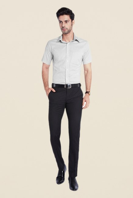 Park Avenue Grey Solid Shirt