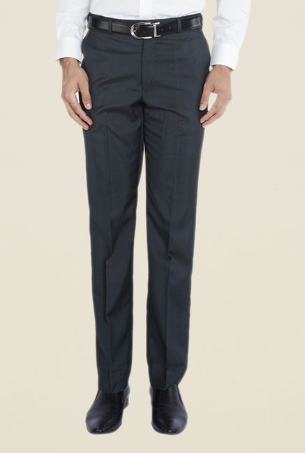 Park Avenue Grey Blend Flat Front Trouser
