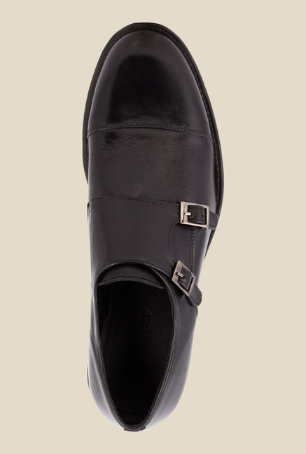 Salt 'n' Pepper Mixe Black Monk Shoes