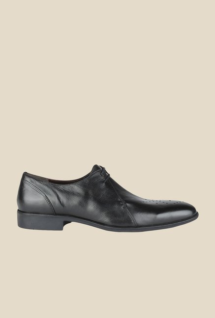 Salt 'n' Pepper Parker Black Derby Shoes