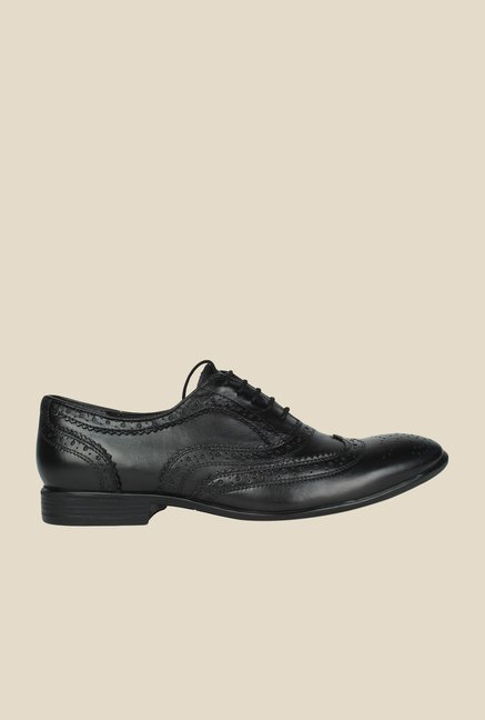 Salt 'n' Pepper Koop Black Brogue Shoes