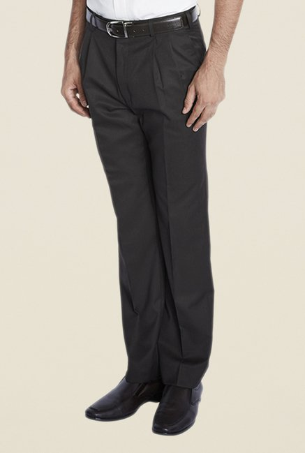 Park Avenue Brown Pleated Trouser