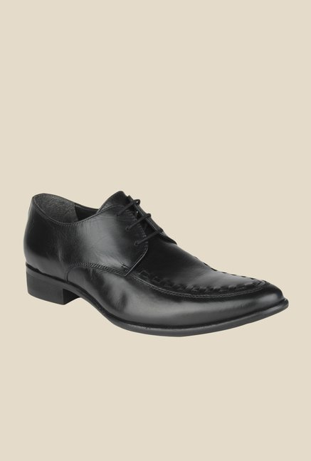 Salt 'n' Pepper Senator Black Derby Shoes
