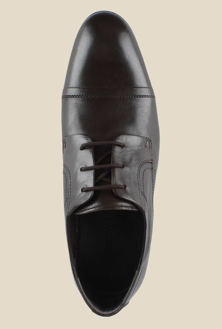 Salt 'n' Pepper Smoke Dark Brown Derby Shoes