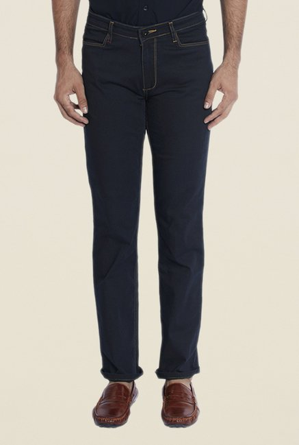 Raymond Navy Raw Denim Jeans