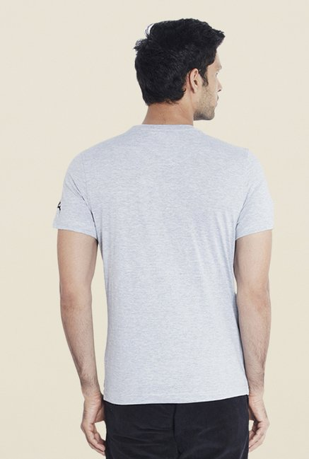 Parx Grey Graphic Print T Shirt