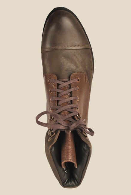 Salt 'n' Pepper Old Monk Brown Casual Boots