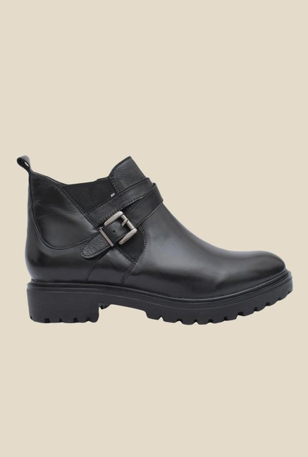 Salt 'n' Pepper Box Black Biker Boots